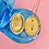 Thumbnail: Vintage Ornate Blue Rhinestone Two Picture Locket