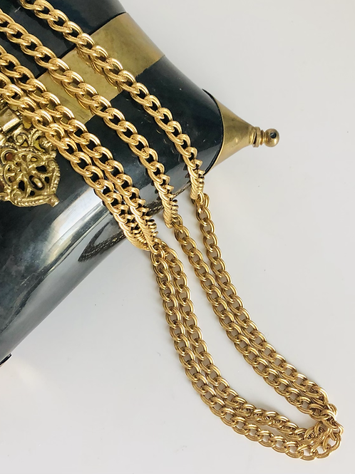 Vintage Monet Long Layering Chain Necklace