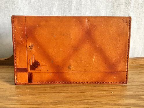 Vintage Textan Cowhide Billfold Deco Style Wallet