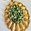 Thumbnail: Vintage Green Stone Statement Necklace