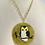 Thumbnail: Vintage Handpainted Enamel Owl Statement Necklace