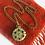 Thumbnail: Vintage Victorian Style Locket Adjustable Necklace