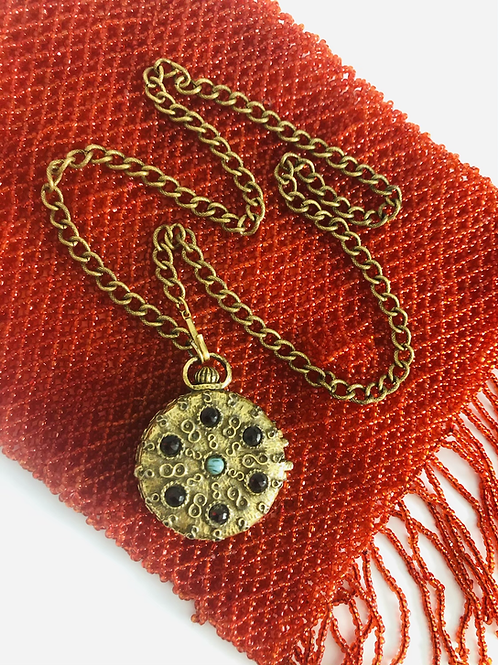 Vintage Victorian Style Locket Adjustable Necklace
