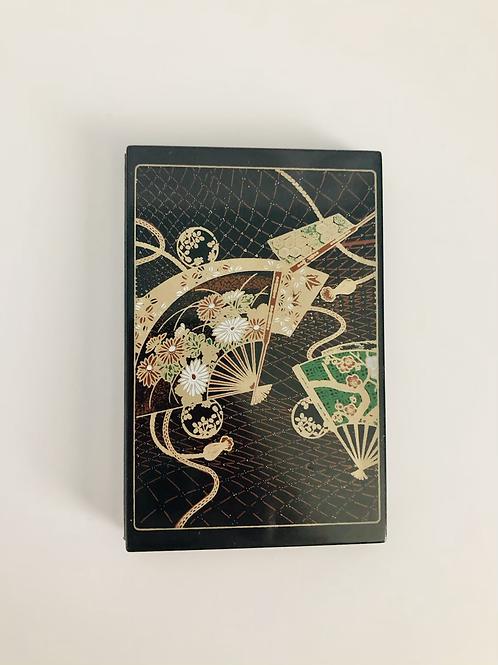Vintage Mini Address Book with Fan Design