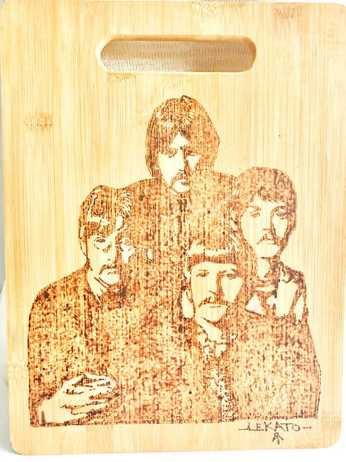 The Beatles Image Wood Carving Board