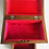 Thumbnail: Stunning Vintage Carved Wood Jewelry Box Pink Inside