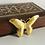 Thumbnail: Vintage 1970s Brown and Gold Keepsake Box