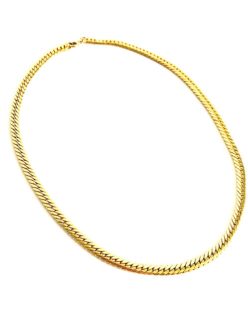 Vintage 17 Inch Thick Layering Gold Chain Necklace