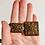 Thumbnail: Vintage Brown Square Carved Link Boho Style Belt
