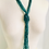 Thumbnail: Vintage Teal Glass Beaded Long Necklace/Belt