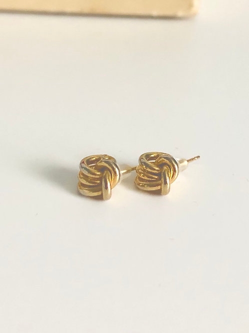 Small Vintage Goldplated Knot Earrings