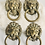Thumbnail: Set of 4 Vintage Solid Brass Lion Head Drawer Pulls
