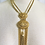 Thumbnail:  Vintage  Etruscan Style Ornate Statement Necklace