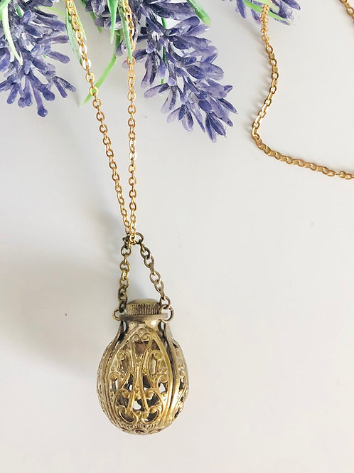 Vintage Perfume Bottle Mixed Chain Necklace
