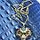 Thumbnail: Vintage Aqua Blue Rhinestone and Filigree Pendant Necklace