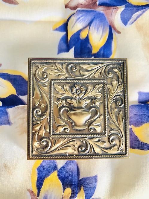 Vintage Volupte Brass Compact Case