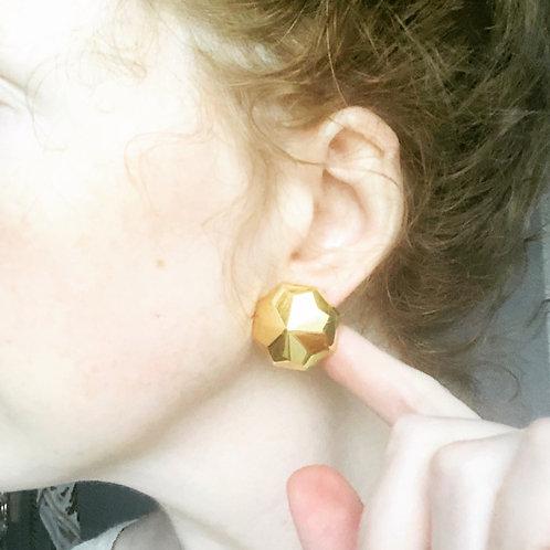 Vintage Hexagonal Everyday Stud Earrings