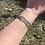 Thumbnail: Vintage Mexican Sterling Rose Panel Bracelet