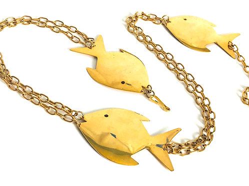Vintage Gold Fish Chain Belt