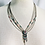 Thumbnail: Vintage Zuni Mosaic Inlay Liquid Silver Necklace
