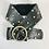 Thumbnail: Black Leather and Brass Studded Rocker Belt