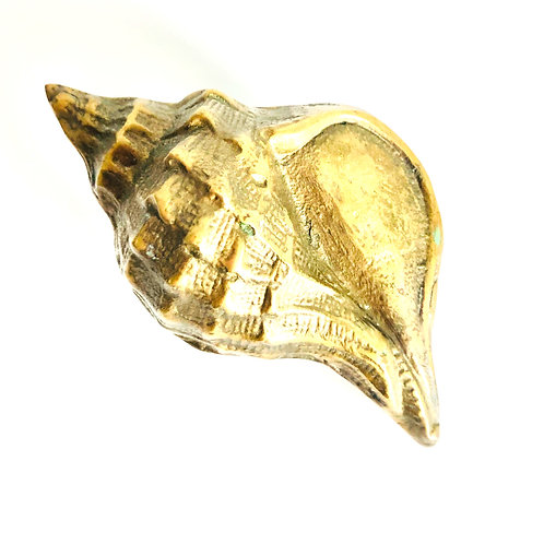 Vintage Brass Sea Shell Paperweight