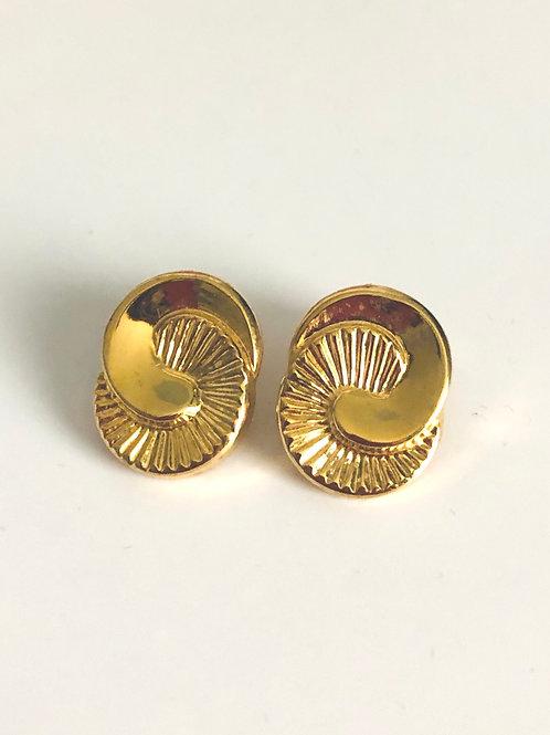 Vintage Half Circle Swirl Earrings