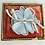 Thumbnail: Vintage Iridescent Baby Blue Flower Broach Pin