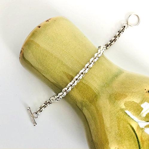 Smaller Size Vintage Sterling Toggle Bracelet