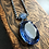 Thumbnail: Vintage Large Faceted Blue Oval Rhinestone Necklace