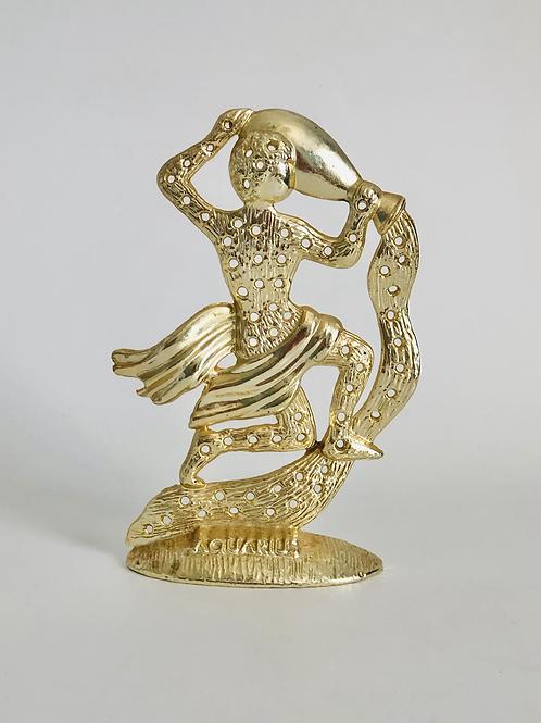 Vintage Gold Aquarius Earring Holder