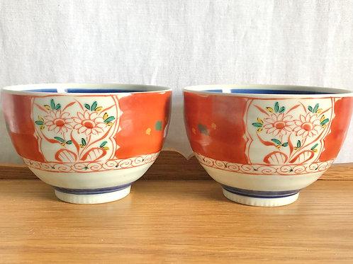 Set of 2 Orange Bowls