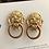 Thumbnail: Vintage KJL for Avon Lion Head Doorknocker Earrings