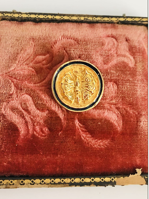 Vintage 1989 MMA Gold and Black Butterfly Pin