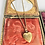 Thumbnail: Vintage Flower and Kite Goldfilled Heart Locket Necklace