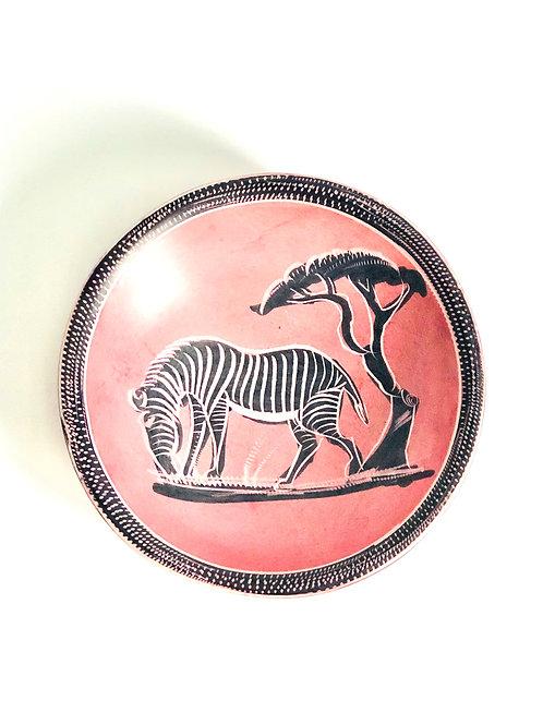Vintage Pink Zebra Trinket Dish