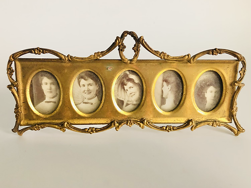 Small Ornate Victorian Brass Picture Frame