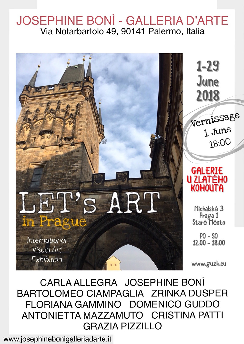 """Domenico Guddo espone i suoi lavori fotografici a Praga, presso la galleria d'arte """"Galerie u Zlateho kohouta"""" per la collettiva d'arte internazionale """"Let's Art in Prague"""".  Dal 31 Maggio al 29 Giugno 2018."""