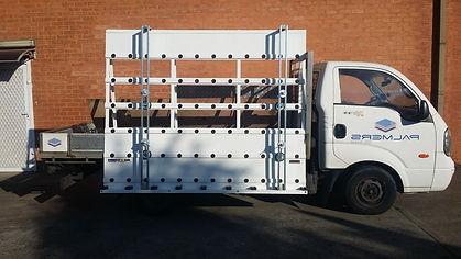 A-frame Glass Rack Truck