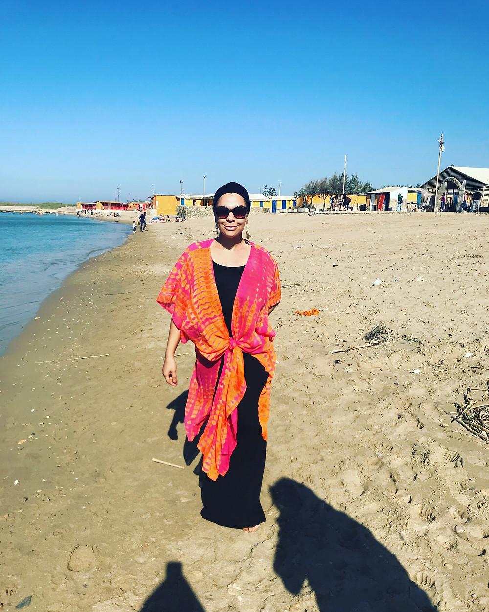 beach chill smile