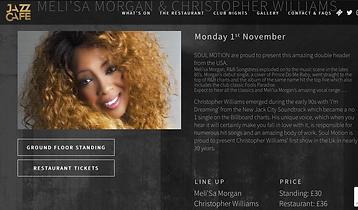 Jazz Cafe Melissa Morgan Christopher Williams.png