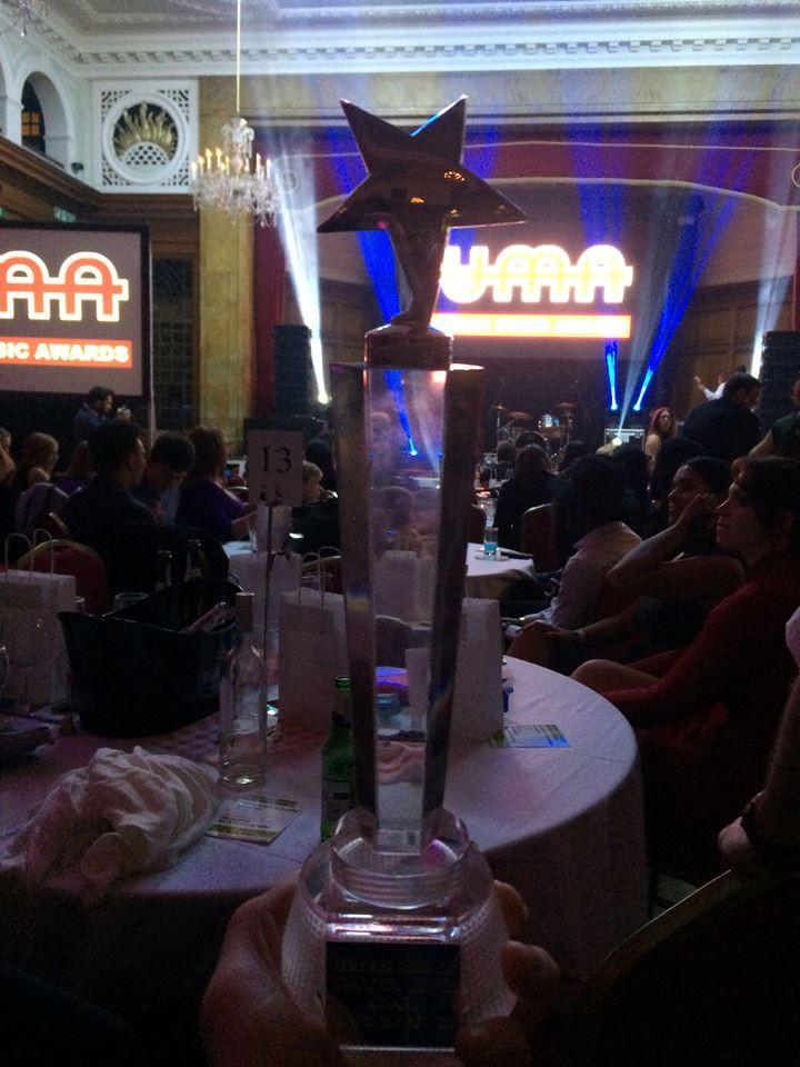 Sulene with the heavies at UMA awards