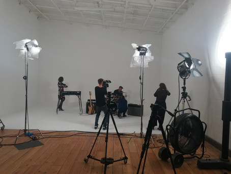 Video shoot with Mother Earth.