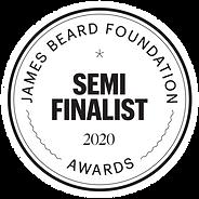 James Beare Doundation Semi Finalist Awards 2020