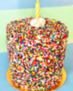 Mini Birthday Cake with a single candle in the middle Super Chunk Signature Original Dessert