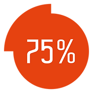 75-percent-completed-circle-infographic-
