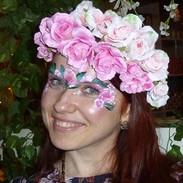 floral face paint
