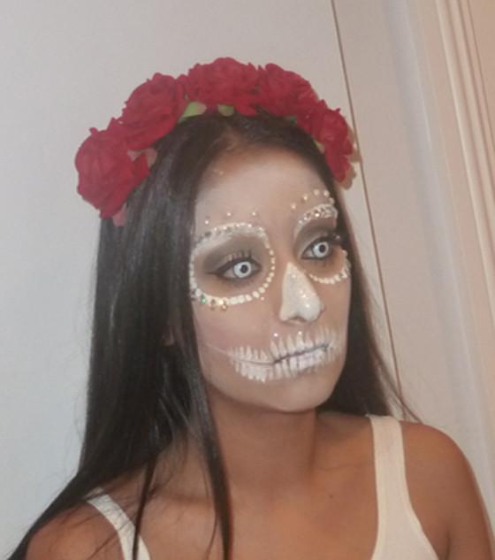 sugar skull white