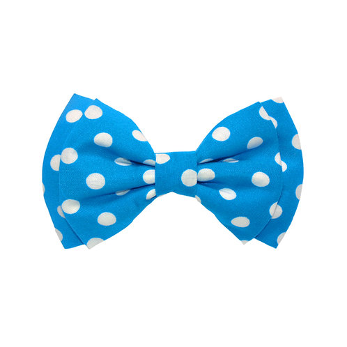Bright Blue Polka Dots: S
