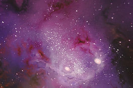 purple space painting